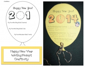 Happy New Year Writing Prompt Craftivity