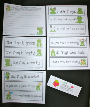 Frog Capitalization and Punctuation Activities