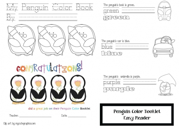 My Penguin Color Booklet