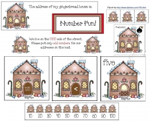 Gingerbread House Number Fun