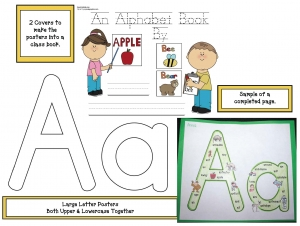 Large Upper & Lowercase Letter Poster Packet