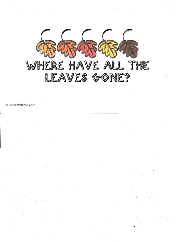Booklet: Where Have All The Leaves Gone?