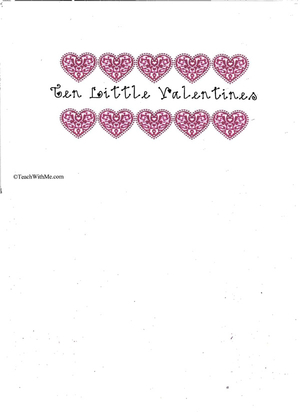 Booklet: 10 Little Valentines