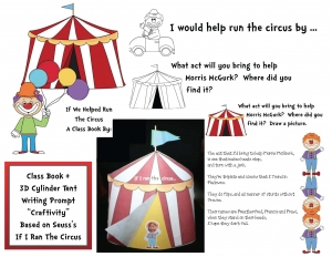 If I Ran The Circus Writing Prompt Craftivity