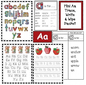 Letter Aa Trace Write & Wipe Mini Packet