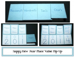 New Year Place Value Craftivity