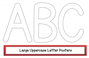 Large Uppercase Letter Posters