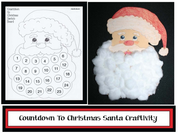 Santa Countdown Craftivity