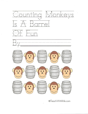 Monkey Counting Booklet