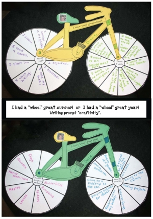 "I Had A ""Wheel"" Great Summer/Year Writing Prompt Craftivity"