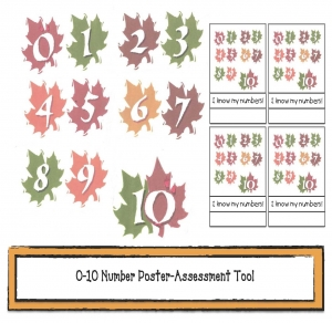Leaf Counting From 0 to 10 Poster