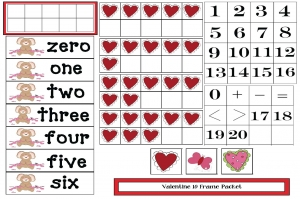 Valentine 10 Frames Packet