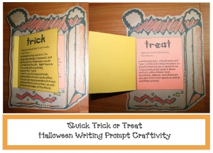 Trick or Treat Halloween Writing Prompt Craftivity