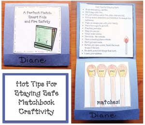 Hot Tips For Fire Safety Matchbook Craft