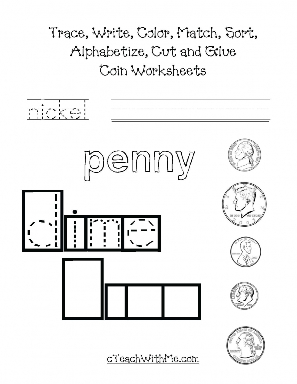 Coin Worksheets Packet