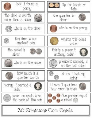 Coin Punctuation Cards