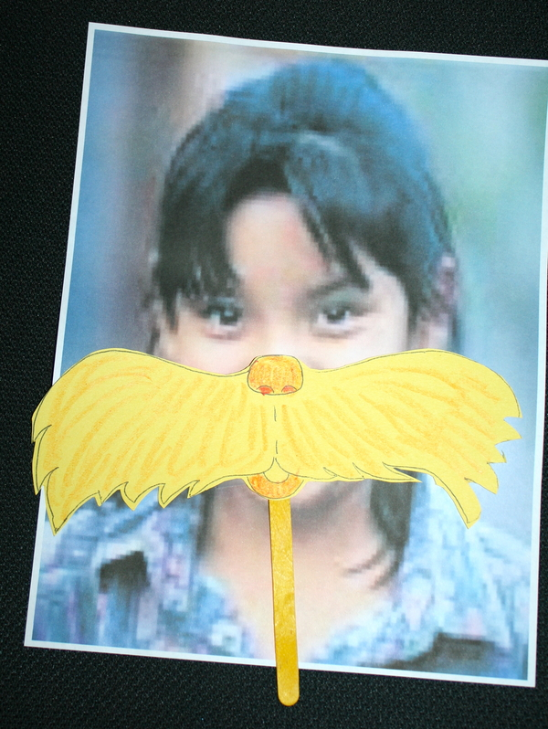 Lorax Mustache Writing Prompt