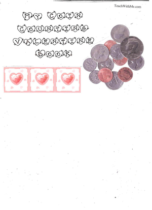 Booklet: My Coin Counting Valentine Book