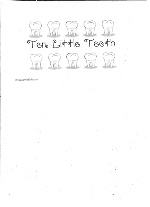 Booklet: 10 Little Teeth