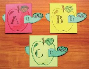 Alphabet Wormy Apple Matching Game