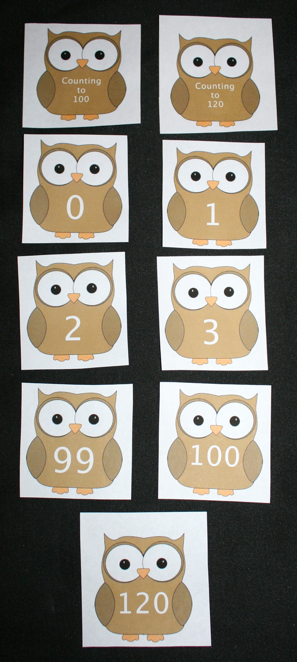 Owl Counting Cards