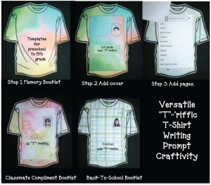 """T""-'rrific T-Shirt Writing Prompt Craftivity"