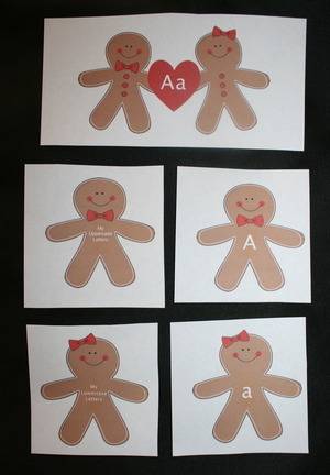 Alphabet Gingerbread Cards