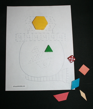 Monthly Pattern Blocks On A Roll Games