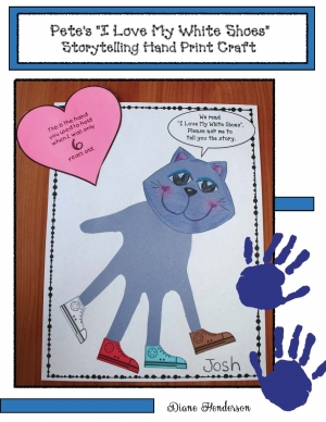 Pete The Cat Keepsake Hand Print Craft