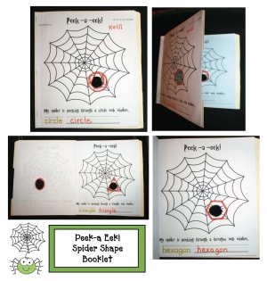 Peek-A-Eek Spider Shape Booklet