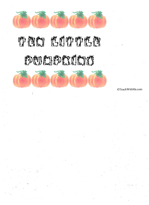 Booklet: 10 Little Pumpkins