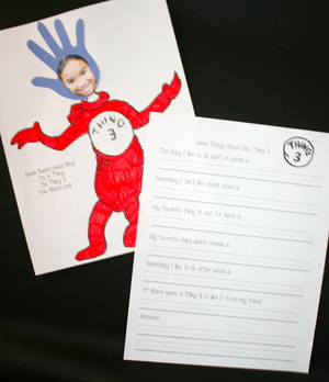 Dr. Suess's Thing 3 Booklet