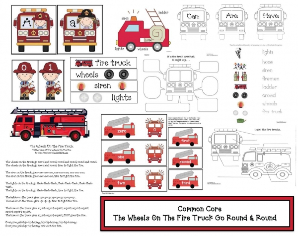 Common Core The Wheels On The Fire Truck Go Round And Round
