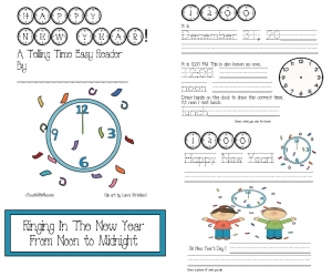 Happy New Year Easy Reader Time Booklet