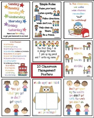 10 Back To School Classroom Management Posters