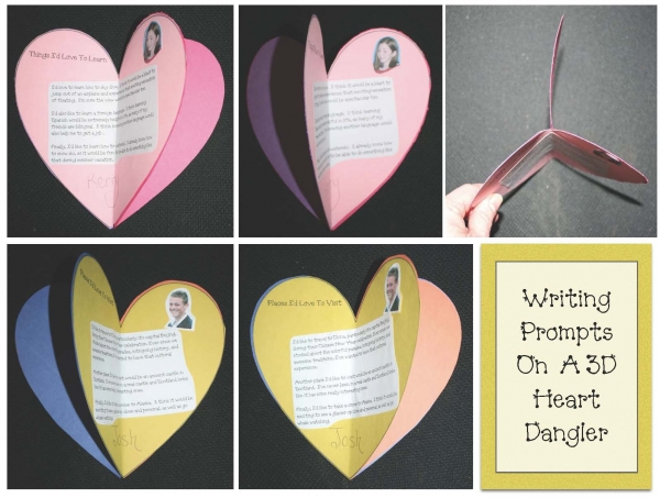 3D Writing Prompt Heart Craftivity