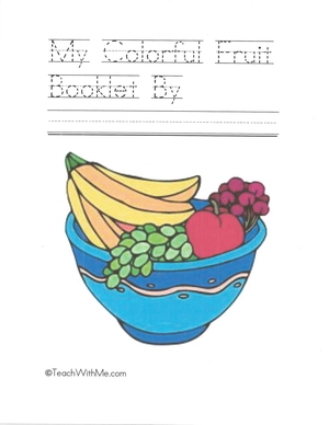 Booklet: My Colorful Fruit