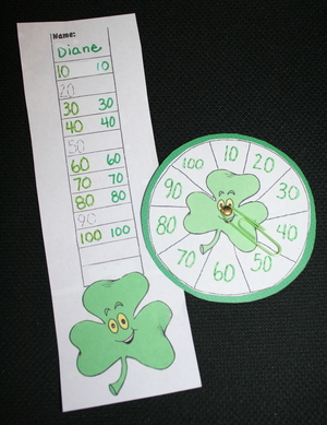 Shamrock Skip Counting Number Spin Game