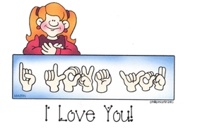 Sign Language I Love You Note