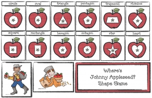 Where Is Johnny Appleseed Shape Game