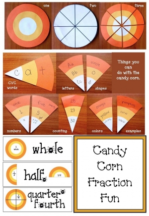 Candy Corn Craft and Fraction Fun