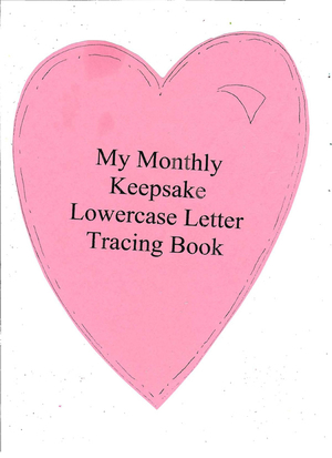 ABC Keepsake Lowercase Tracing Book and Assessment Tool