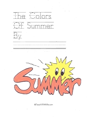 Easy Reader Booklet: The Colors Of Summer