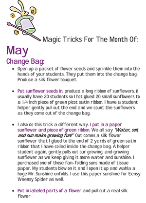 Magic Tricks For May Free Article
