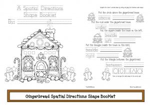 Gingerbread House Spatial Directions Shape Booklet