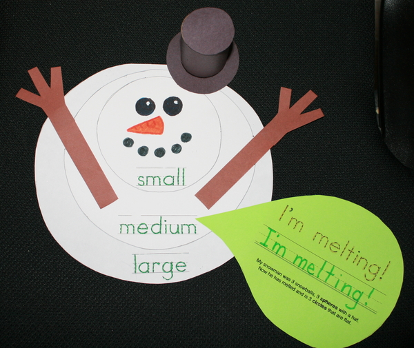 Melted Snowman Math Concepts