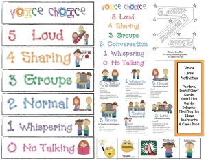 Voice Level Classroom Management Packet