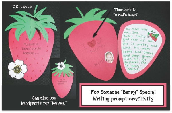 "You Are ""Berry"" Special Writing Prompt Craftivity"