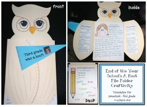 School Was A Hoot File Folder Craftivity