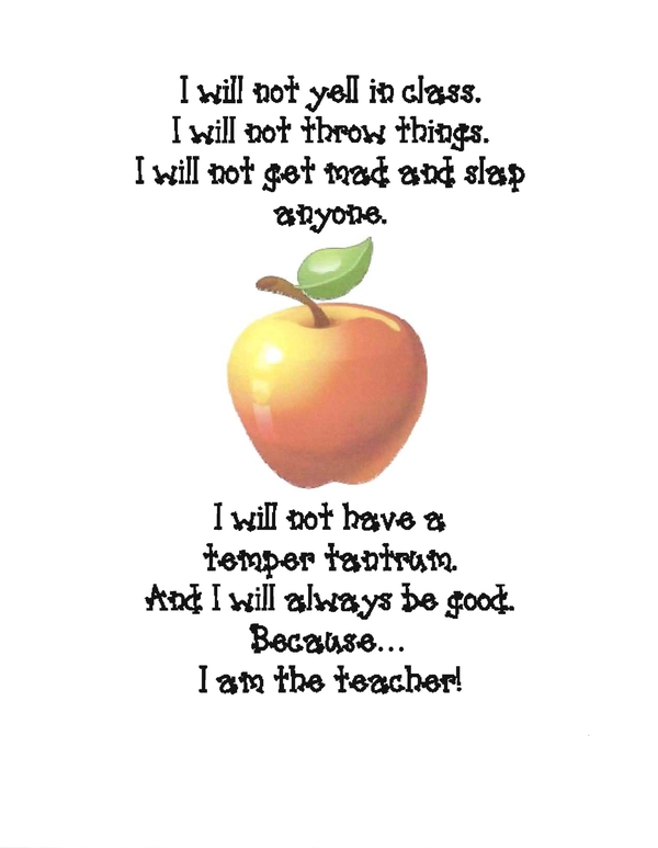 Classroom Apple Poster